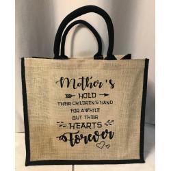 Hessain Jute Tote Bag - HJTB04 Mothers Hand