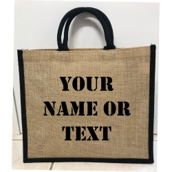 Hessain Jute Tote Bag - HJTB08 Personalised Text