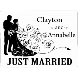 Personalised Wedding Car Decoration Door Sign Couple WP7