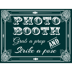 Personalised Metal Wedding Green Photo Booth Sign WMS11