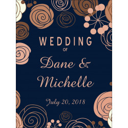 Personalised Metal Wedding Welcome Sign WMS19