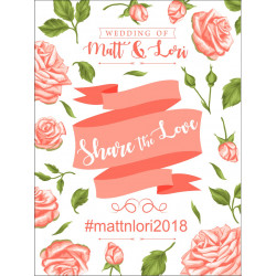 Personalised Metal Wedding Share the Love hashtag Sign WMS20