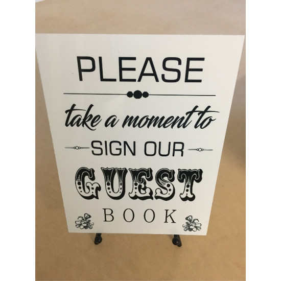 Personalised Metal Wedding Guest Book Sign WMS6