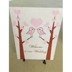 Personalised Metal Wedding Welcome Birds Sign WMS21